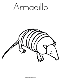 Small Picture Armadillo Coloring Page Twisty Noodle