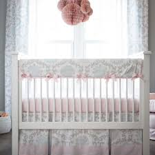 pink and gray rosa crib bedding  pink and grey girl baby bedding