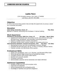 Entry-level Accounting Combination Resume Example