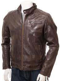 men s brown leather hoo jacket anstey alternative