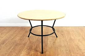 round rattan coffee table. Rattan Coffee Table Vintage With Black Metal Base 1 Round