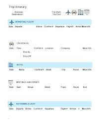 Airline Ticket Template Word Magnificent Family Vacation Itinerary Template Word Trip Holiday Excel C