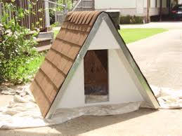 Homemade Dog House Designs Build An Insulated A Frame Doghouse For Under 75 4 Steps