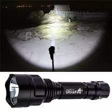 Chính Hãng Ultrafire C8 LED XM-L T6 5 Chế Độ Đèn Pin 18650 Pin 3800LM Torch  Ánh Sáng Chiến Thuật LUZ Transmitter Bulb Với Hộp