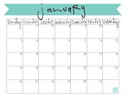 January 2017 Calendar Page – Blank Calendar 2017