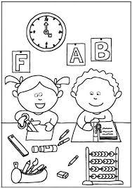 Disegni Sulla Scuola Da Stampare E Colorare Foto Mamma Pourfemme