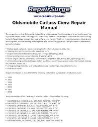 oldsmobile cutlass ciera repair manual 1990 1996 repairsurge com oldsmobile cutlass ciera repair manual the convenient online oldsmobile cutlass ciera