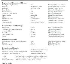 Theatre Resume Impressive Musical Theatre Resume Template Luxworkshopco
