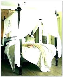 Canopy Bed Drapery Ideas Drapes Curtains With For Poster Decorating ...