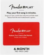 fender play subscription gift card learn to play guitar and ukulele lessons