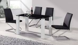 stowaway kitchen table and stools set black and white high gloss diningable chairs round stowaway with