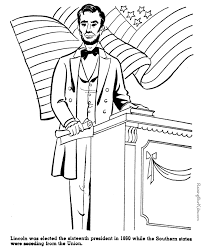 abraham lincoln coloring pages free coloring pages