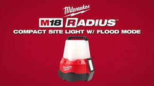 M18 Compact Site Light Milwaukee M18 Radius Compact Site Light