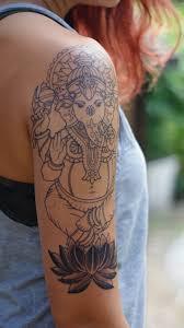Ganesha Tattoo Arm Piece Pre Shading By Janaya Singer At Craftsman