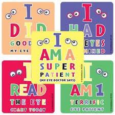 Details About Eye Chart Stickers X 5 Optometrist Stickers Rewards Glasses Eye Test Chart