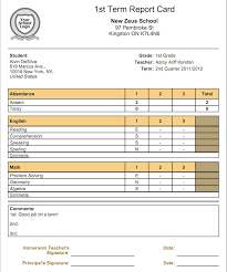 Report Card Template Pdf What Is The Relationship Between Gradebooks And Report Cards