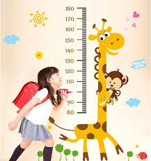 Child Height Chart For Wall Height Chart Wall Decal Kids Room Height Measurement