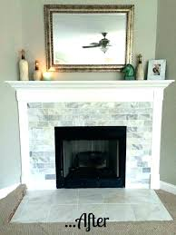reface brick fireplace ideas with tile ti