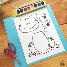 Frog Craft Template For Kindergarten 1st Grade 2nd Grade
