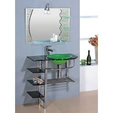 Glass Sink Bathroom Shop Kokols Usa Green 30 In Drop In Single Sink Bathroom Vanity