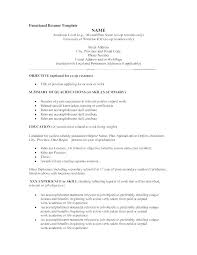 Sample Of Functional Resume Format Chronological Resume Template