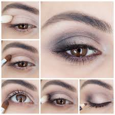 how to step by step light smokey eye makeup tutorial for brown eyes
