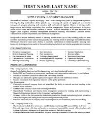 Logistics Management Resume Logistics Manager Resume