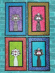 Wall Quilt Patterns - Quilted Wall Hanging Patterns & Cattitude Quilt Pattern Adamdwight.com