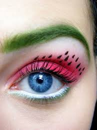 stunning watermelon eye makeup would you try it watermelon eye makeup
