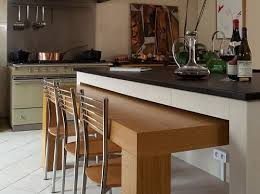 îlot De Cuisine Avec Table Intégrée Kitchen In 2019 Kitchen