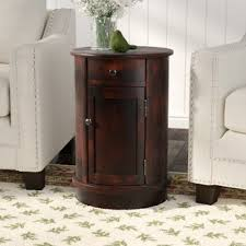 Image Small Monica End Table With Storage Wayfair Unique End Tables Wayfair