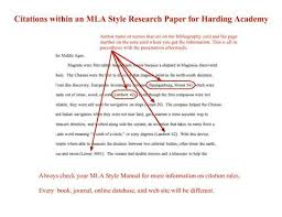 MLA FORMAT  WHAT SHOULD MY PAPER LOOK LIKE  MLA Handbook for     example of a research paper in mla format jpg