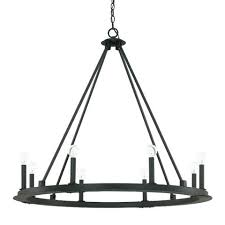 unique capital lighting 8 light circular chandelier in matte black iron black wrought iron chandelier with