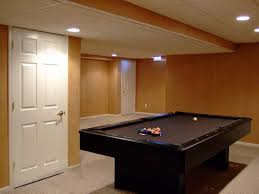 basement finishing ideas. Attractive Basement Finishing Ideas With Brown Wall Paint Color Also White Ceiling Design