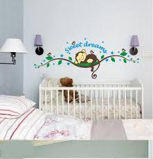 baby room monkey wall decor elegant cheeky monkey sweet dream removable wall stickers decal kid nursery