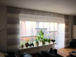 Moderne Gardinen Grosse Fenster Dekorativer Sonnenschutz Für Den