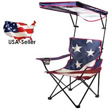 chairs and seats 19985 folding camping chair fishing seat outdoor quik shade us american flag canopy camp chair multicolor