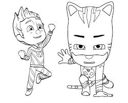 Pj Mask Coloring Pages Catboy And Romeo Mask Coloring And Drawing