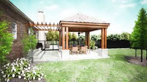 free standing covered patio designs. Unique Freestanding Wooden Backyard Patio Covers Natural Furniture White Porcelaine Floor Large Green Space Free Standing Covered Designs