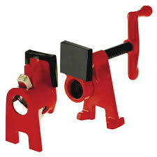 h style pipe clamp fixture set