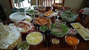 salad buffet spread