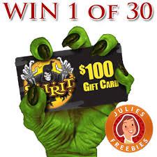 Halloween Gift Cards Enter To Win 1 Of 30 Spirit Halloween Gift Cards Julies