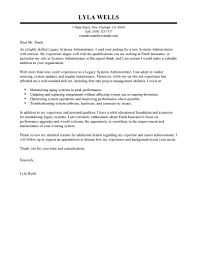 leading professional legacy systems administrator cover letter legacy systems administrator cover letter example