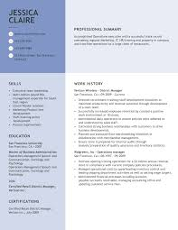 Free Professional Resume Templates From Myperfectresumecom
