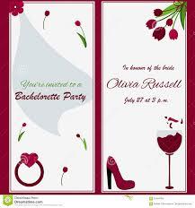 Wine And Design Bachelorette Party Template For Bachelorette Party Invitation Stock Vector