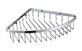 chrome wire corner basket shower caddy shelf b5110