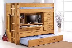 loft bed with trundle storage