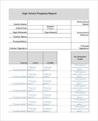School Report Card Format Free Printable Homeschool Report Card Template Sample Homeschool