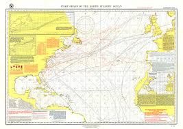 Pilot Chart Of The North Atlantic Ocean Map
