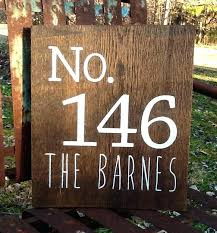 wooden house home card it out see the signs small number that rustic with er on wooden house number signs